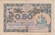 50 centimes - Chambre de Commerce de Paris [75] (2eme type) -  revers