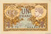 1 franc - Chambre de Commerce de Paris [75] (2e type) – avers