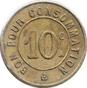 10 centimes - Automatique le Moderne - Paris [75]) – revers