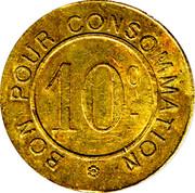 10 Centimes - LA COMPAGNIE CAILLE - Paris [75] – revers