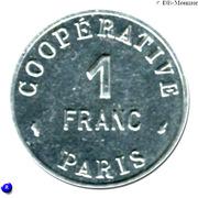 1 Franc - Cooperative de l'Atelier des Monnaies et Médailles - Paris [75] – avers