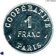 1 Franc - Cooperative de l'Atelier des Monnaies et Médailles - Paris [75] – revers
