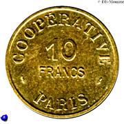 10 Francs - Cooperative de l'Atelier des Monnaies et Médailles - Paris [75] – revers