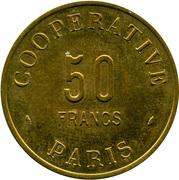 50 Francs - Coopérative de l'Atelier des Monnaies et Médailles Paris – avers