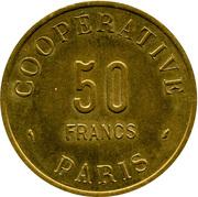50 Francs - Coopérative de l'Atelier des Monnaies et Médailles Paris – revers