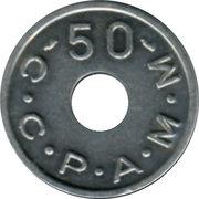 50 Anciens Francs C.C.P.A.M.M. - Paris [75] – revers