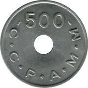 500 Anciens Francs C.C.P.A.M.M. - Paris [75] – revers