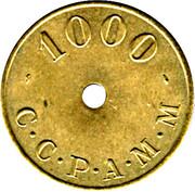 1000 Anciens Francs C.C.P.A.M.M. - Paris [75] – avers