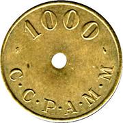1000 Anciens Francs C.C.P.A.M.M. - Paris [75] – revers