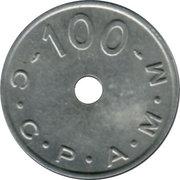 100 Anciens Francs C.C.P.A.M.M. - Paris [75] – avers