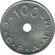 100 Anciens Francs C.C.P.A.M.M. - Paris [75] – revers