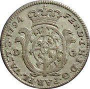 20 Soldi - Ferdinando di Borbone – avers