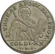 20 Soldi - Ferdinando di Borbone – revers