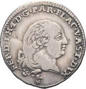 3 lire - Ferdinando di Borbone – avers