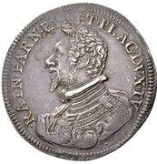 1 ducatone Ranuccio Farnese I – avers