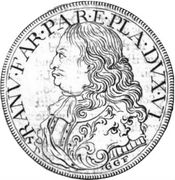 1 ducatone - Ranuccio Farnese II – avers