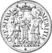 1 ducatone - Ranuccio Farnese II – revers