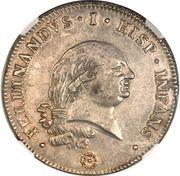 1 ducaton - Ferdinando di Borbone – avers