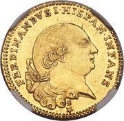 1/2 Doppia - Ferdinando di Borbone – avers
