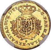 1/2 Doppia - Ferdinando di Borbone – revers