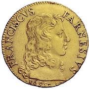 1 doppia Francesco Farnese I – avers