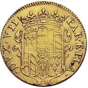 1 doppia Francesco Farnese I – revers
