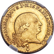 1 Doppia - Ferdinando di Borbone – avers