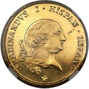 4 doppie Ferdinando di Borbone – avers