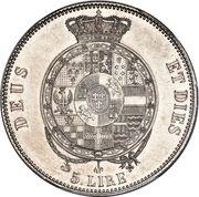 5 lire - Robert Ier – revers