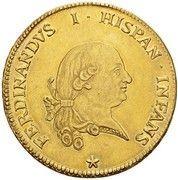 8 doppie Ferdinando di Borbone – avers