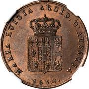 3 centesimi Maria Luigia – avers
