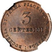 3 centesimi Maria Luigia – revers