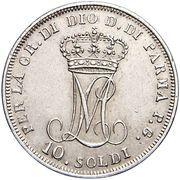 10 soldi - Maria Luigia – revers
