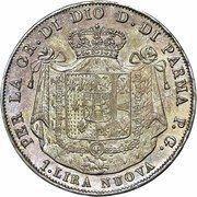 1 lira - Maria Luigia – revers