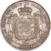 5 lire - Marie-Louise – revers