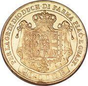 20 lire - Maria Luigia – revers
