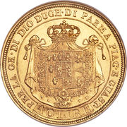 40 lire - Maria Luigia – revers