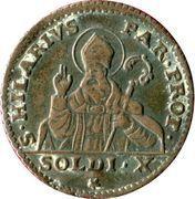 10 soldi Ferdinando I di Borbone – revers