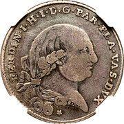 1 lira Ferdinando di Borbone – avers