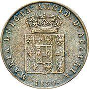 5 centesimi - Maria Luigia – avers
