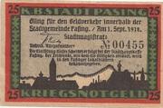 25 Pfennig Pasing) – avers