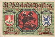 50 Pfennig Pasing) – revers