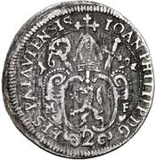 2 Kreuzer - Johann Philipp Graf von Lamberg – avers