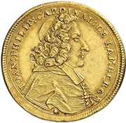 2 Ducat - Johann Philipp von Lamberg – avers