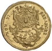 ⅛ Thaler - Leopold Ernst Joseph von Firmian (Gold pattern strike) – avers