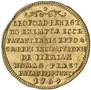 ⅛ Thaler - Leopold Ernst Joseph von Firmian (Gold pattern strike) – revers