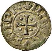 1 denaro - Enrico I – avers