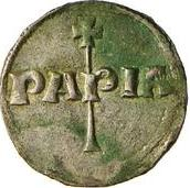 1 denaro - Enrico I – revers