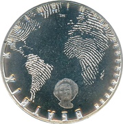 5 euros Canaux d'Amsterdam (cuivre plaqué argent) – avers
