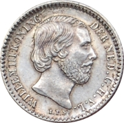 10 cents Guillaume III – avers